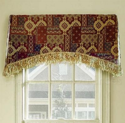 Arched Kick Pleat Valance on a Board