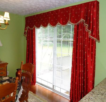 Box Pleat Valance over Sliding Glass Doors