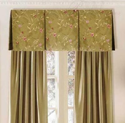 Inverted Box Pleat Valance on a Board