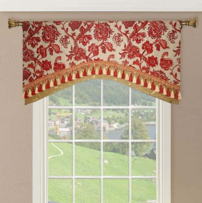 Double Layered Arched Valance
