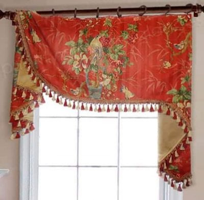 Flat Swag Valance on Rings
