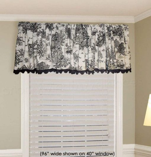 Gathered Rod Pocket Valance