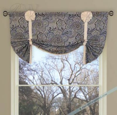 Ring Style London Valance with Detachable Bows