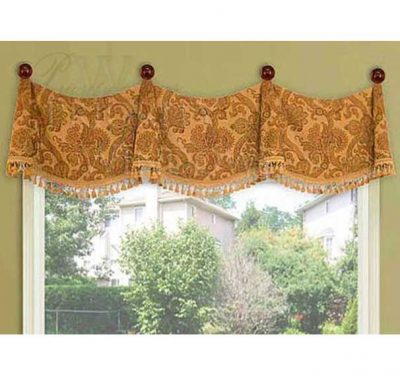Medallion Swag Valance with Bells