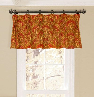 Straight Pinch-Pleat Valance on Rings