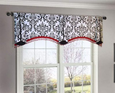 Arched Double Window Valance Custom