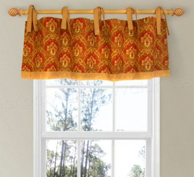 Tie Top Valance with Banding