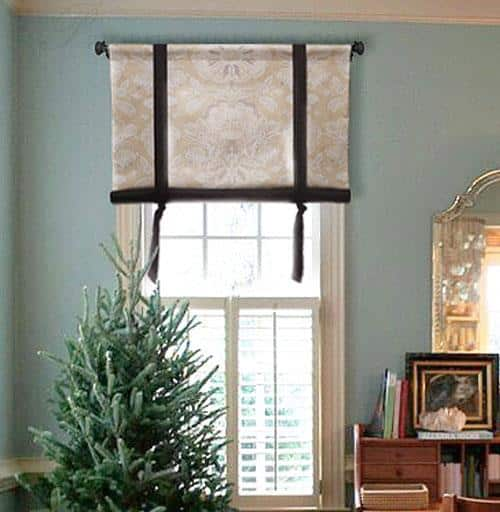 Stagecoach Valance in Two Fabrics