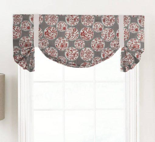 Aiko (Novelty Chinoiserie) Tailed Balloon Valance