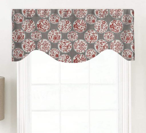 Aiko (Novelty Chinoiserie) Shaped Valance Curtain