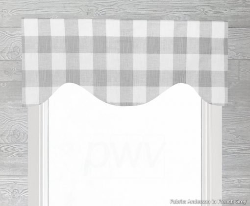 Anderson (Large Buffalo Check) Shaped Valance Curtain
