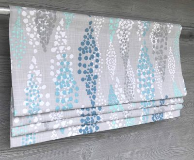Angelo (Blue and Brown) Faux Roman Shade Valance