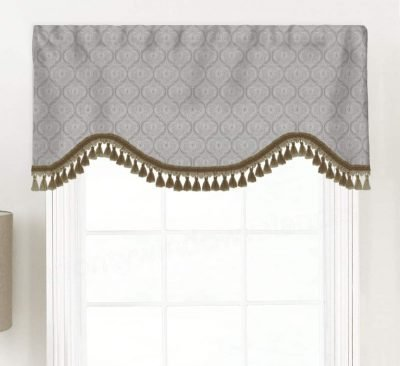 Arabesque (Scott Living) Shaped Valance Curtain