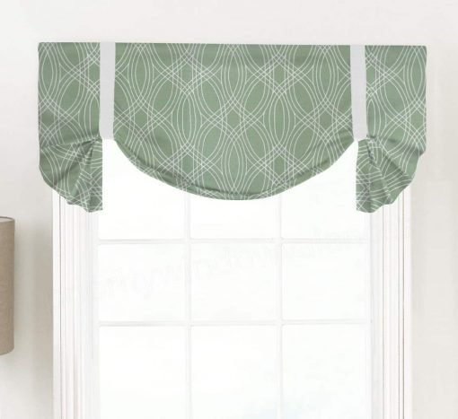 Bargello (Modern Geometric Print) Tailed Balloon Valance