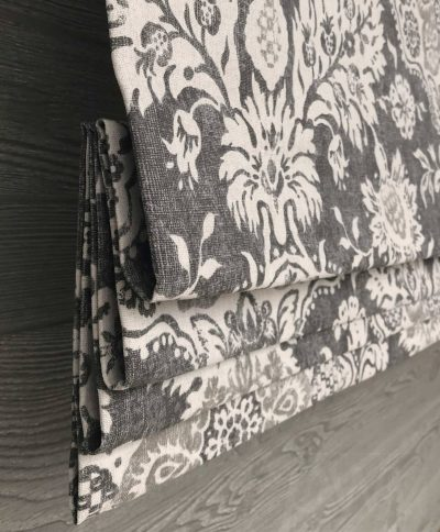 Belmont (Traditional Neutral Floral) Faux Roman Shade Valance