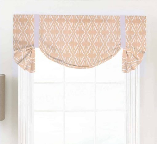 Biscay (Blue, Green, Salmon Pink) Tailed Balloon Valance