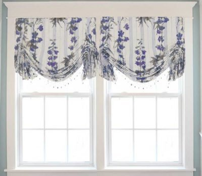 Blue Custom Valance Extra Long