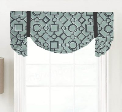 Brazil (Modern Diamond Square) Tailed Balloon Valance
