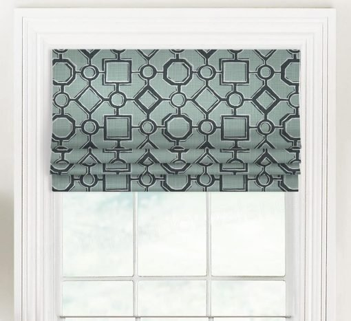Brazil (Modern Diamond and Square) Faux Roman Shade Valance