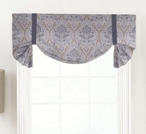 Brussels (Amethyst Floral) Tailed Balloon Valance