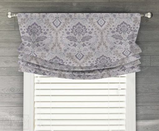 Brussels (Light Amethyst) Faux Relaxed Roman Balloon Valance