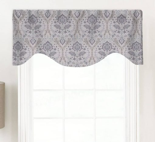 Brussels (Faded Amethyst) Shaped Valance Curtain
