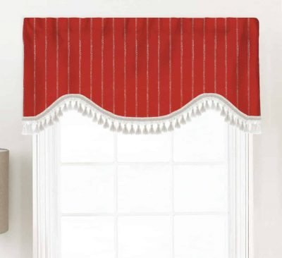 Carlo (Modern Dot Stripe) Shaped Valance Curtain