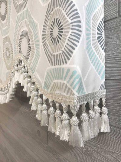 Charm (Modern Geometric Circles) Shaped Valance Curtain