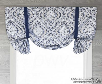 Curves Ahead (Diamond Medallion) Tailed Balloon Valance