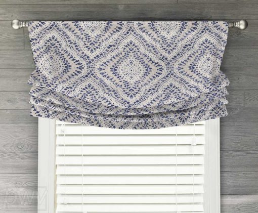 Curves Ahead (Diamond Medallion) Faux Relaxed Roman Balloon Valance