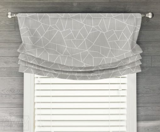 Cut Glass (Novelty Geometric) Faux Relaxed Roman Balloon Valance