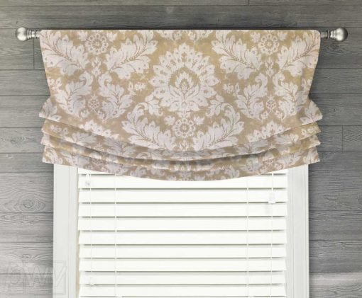 Darvel (Oversized Floral Medallion) Faux Relaxed Roman Balloon Valance