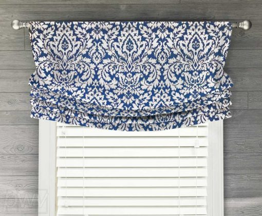 Dashing Damask Faux Relaxed Roman Balloon Valance