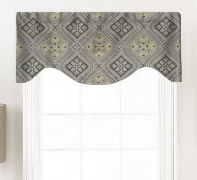 Dream (Blue, Brown, or Gray) Shaped Valance Curtain