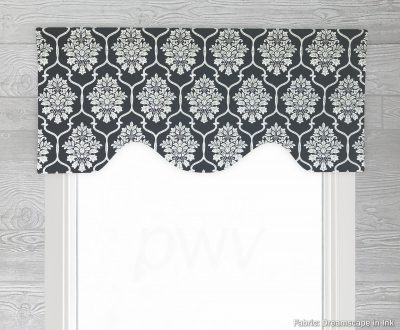 Dreamscape (Floral Medallion) Shaped Valance Curtain