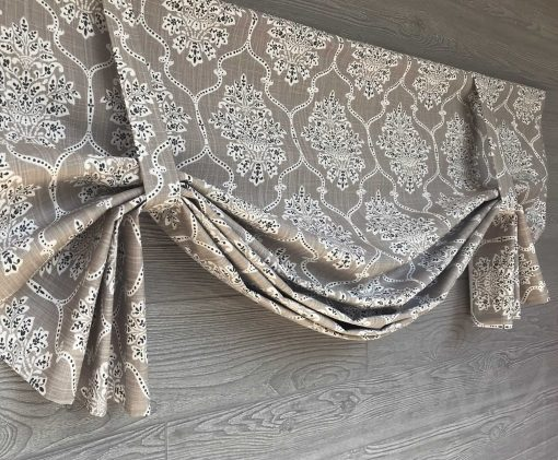 Dreamscape (Floral Medallion) Tailed Balloon Valance