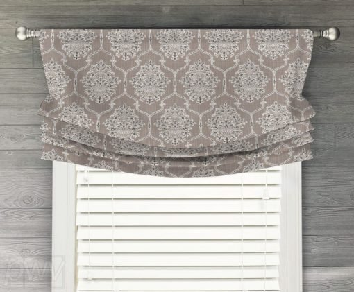 Dreamscape (Floral Medallion in Many Classic Colors) Faux Relaxed Roman Balloon Valance