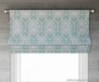 Dreamscape (Floral Medallion in Many Classic Colors) Faux Roman Shade Valance