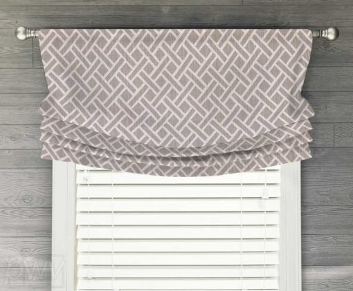 Eastwood (Classic Lattice) Faux Relaxed Roman Balloon Valance