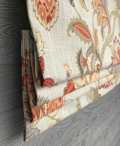Finders Keepers (Jacobean Floral) Faux Roman Shade Valance