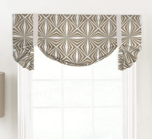 Francisco (Modern Geometric) Tailed Balloon Valance