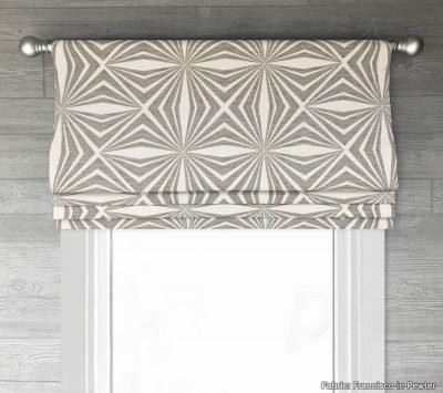 Francisco (Modern Geometric Luxe Linen) Faux Roman Shade Valance