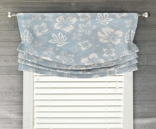 Hibiscus Faux Relaxed Roman Balloon Valance