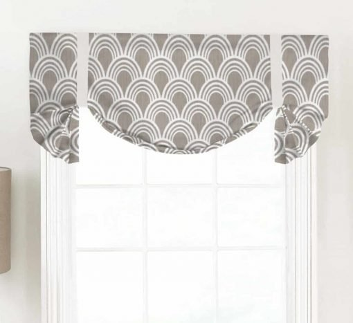Hope (Modern Geometric Neutrals) Tailed Balloon Valance