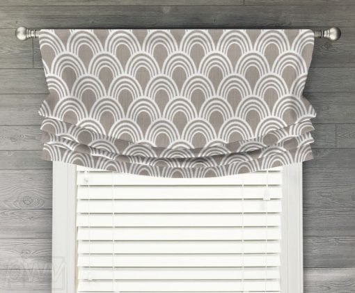 Hope Faux Relaxed Roman Balloon Valance