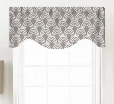 Hope (Modern Geometric Neutrals) Shaped Valance Curtain