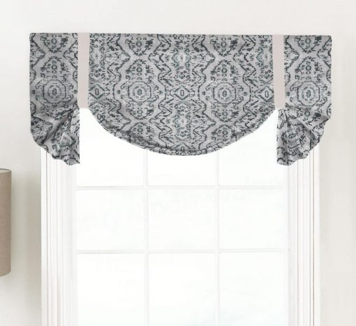 Jazmin (Distressed Print) Tailed Balloon Valance