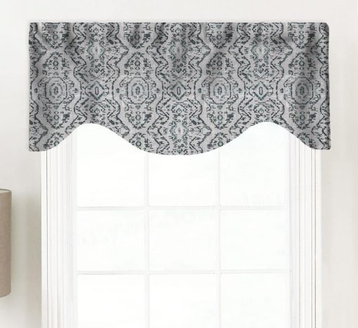 Jazmin (Distressed Print) Shaped Valance Curtain