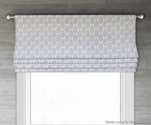 Jersey (Orange, Blue, Gray) Faux Roman Shade Valance