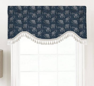 Jumbo (Elephant Design) Shaped Valance Curtain